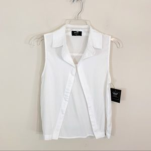 Nasty Gal • White Sleeveless Top XS